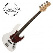 CORONA Traditional Standard Jazz Bass J20F/L OWT 玫瑰木指板 奧林匹克白