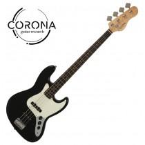 CORONA Traditional Standard Jazz Bass J20F/L BLK 玫瑰木指板 黑色