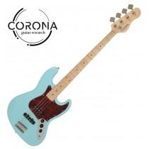 CORONA Traditional Standard Jazz Bass J20F/M DHB 楓木指板 海豚藍