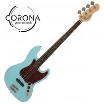 CORONA Traditional Standard Jazz Bass J20F/L DHB 玫瑰木指板 海豚藍